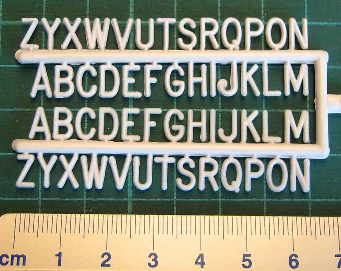 Buchstaben ziffern zubeh r fechtner modellbau shop for Mobel 9 buchstaben