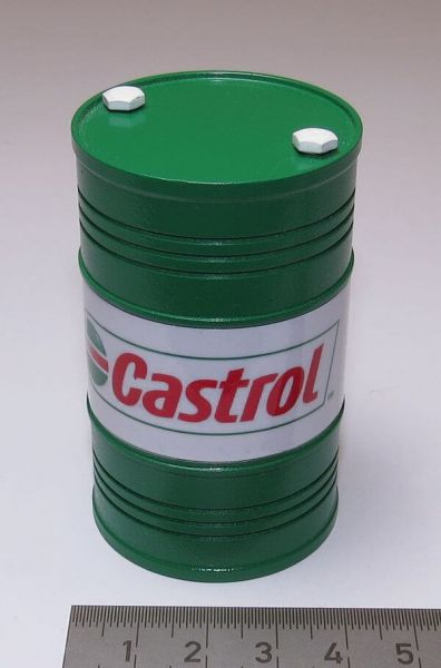 1x Ölfass CASTROL 200l. Höhe ca. 68mm, Durchmesser 40mm