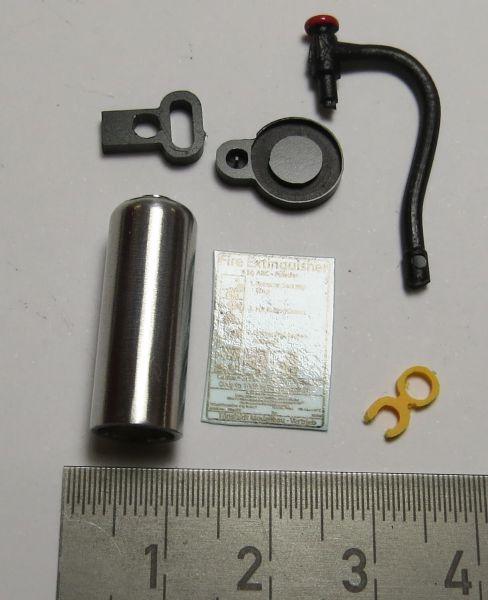 1 blanker BAUSATZ Feuerlöscher mit ovalem Griff, Wedico-Größ