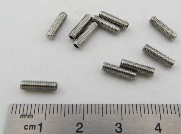 Gewindestift M3 x 10 DIN913, VA, 10 Stück. (Innen-Sechskant)