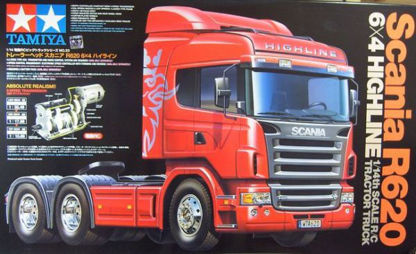 Tamiya Scania Highline R620 6x4, 3 oś. zestaw