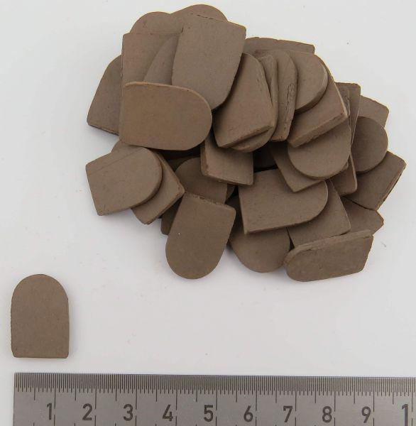 Dachziegel 2cm x 1,4cm, schwarz, Beutel mit 40 Stück