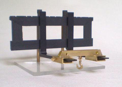 Gancho de carga 1, Latón, igualando los tenedores originales