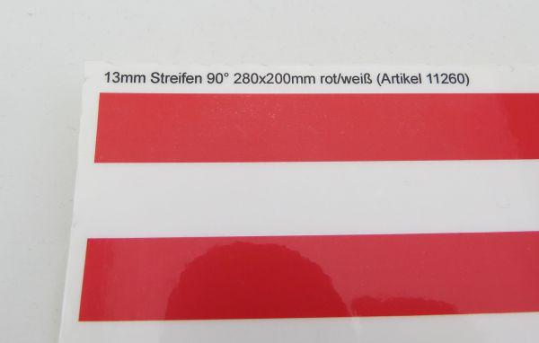 Dekorbogen Warnstreifen STANDARD, ca. 200x280mm, 13mm