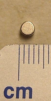 Neodym Magnet, rund, 3mm Durchmesser 2mm dick, hohe