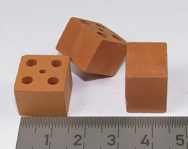 1 ustawić cegły perforowane cegły, czerwony, 25 kawałek. W przybliżeniu 15x15x12mm