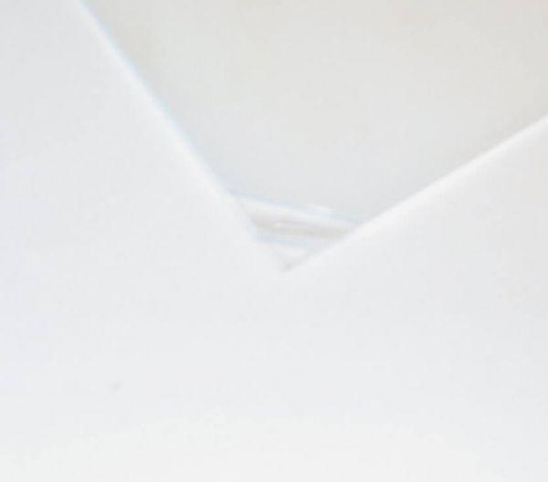1 Polyester-Platte glasklar 0,5mm dick ca.250 x 500 mm