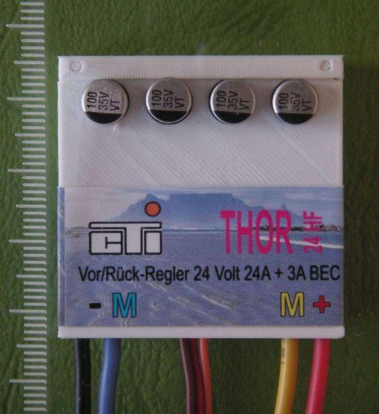 Fahrregler THOR 24-HF 6 bis 24V max. 24A. 100% vorwärts, 100