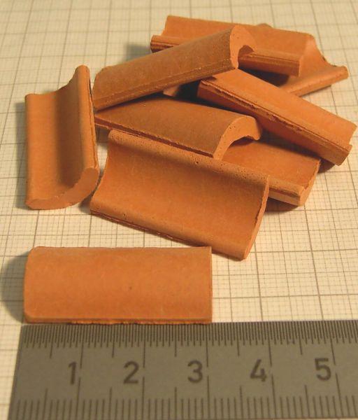 Firstziegel 3cm, rot,Beutel mit 50 Stück