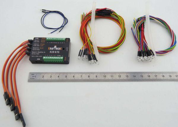 KLM 4 / 16 ışık asistanı SET dahil, kablo demetleri