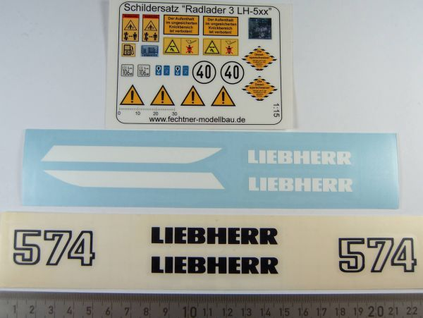 Labelling set for wheel loaders 574  -Of black and