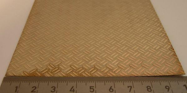 1 Riffelblechplatte 2 Streifen-Muster Abm. 100x200mm,