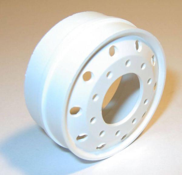 1 euro yuvarlak delikli, plastik, beyaz, WDC ölçekli rim