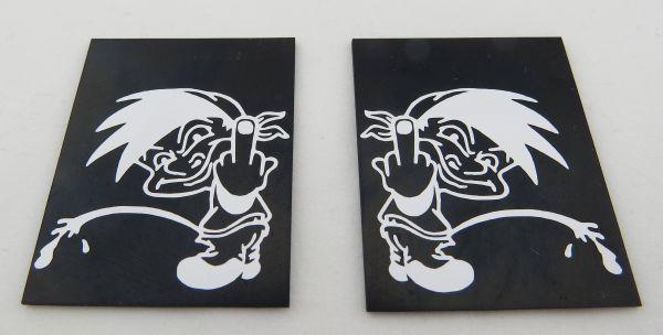 1 çifti çamurluk beyaz motifli Nr.115 50x40mm (YxG)