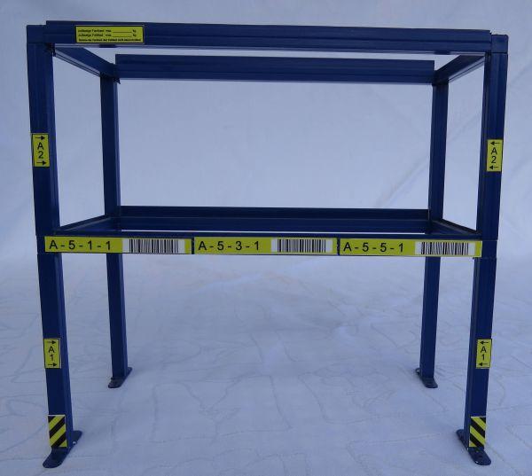 1 Palettenregal (Alu) 200mm breit, 190mm hoch, 91mm tief