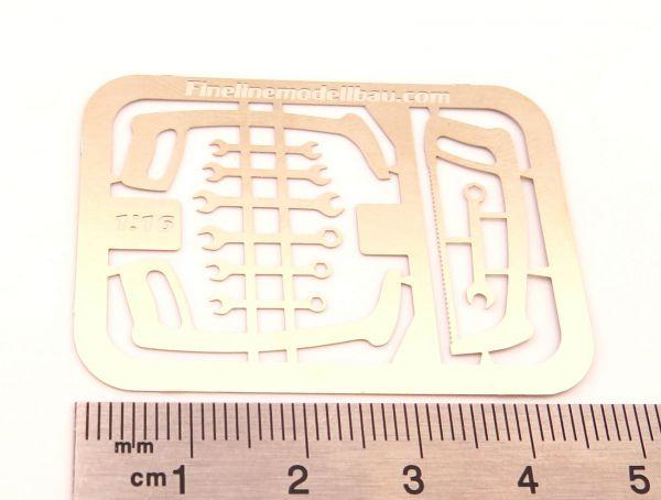 1 Ring-Gabelschlüsselsatz, geätzt, 12 Schlüssel im