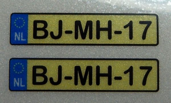 Set of license-plates for NETHERLANDS. 2 plates,