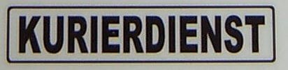 "Metin etiketi ""KURYE"", siyah, 1: 12 kendini"