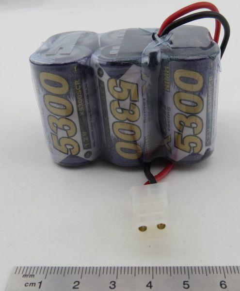 1 Akku-Pack mit SUB-C 5300-Zellen. 7,2V 6 Zellen, 5300mAh mi