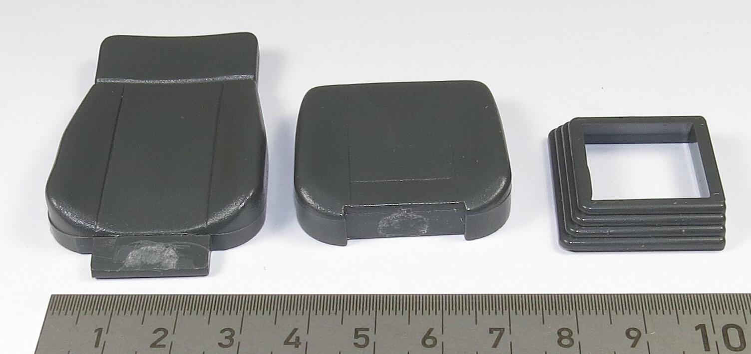 1 sitz mit sitzkonsole kunststoff dunkelgrau sitzfl che sitze anbauteile fahrzeug. Black Bedroom Furniture Sets. Home Design Ideas