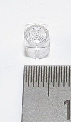 1x lente LED para 3mm LED. Bajo, claro, cabeza cuadrada