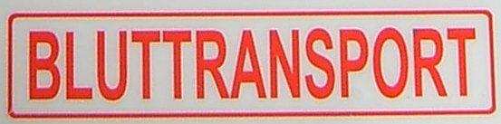 """Tekst etykiety """"KREW TRANSPORT"""", czerwony, 1: 14 folia samoprzylepna"""
