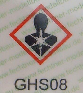 basılı tehlikeli listesi (WDC ölçekli) GHS08 yüksek sesle