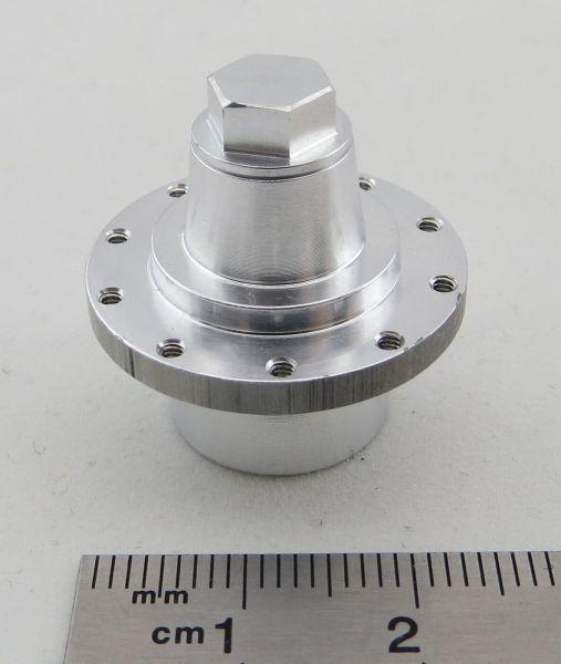 Anhängernabe with lid, aluminum, bolt circle 22mm, 10x M1,6mm