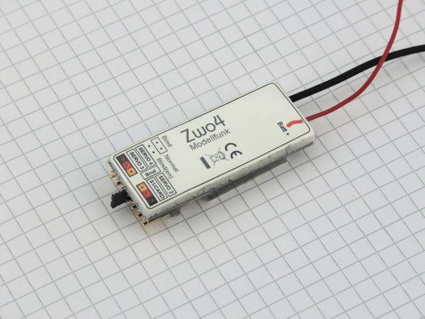 2,4GHz Empfänger mit 4 Servokänälen. Unterstützt die Modella