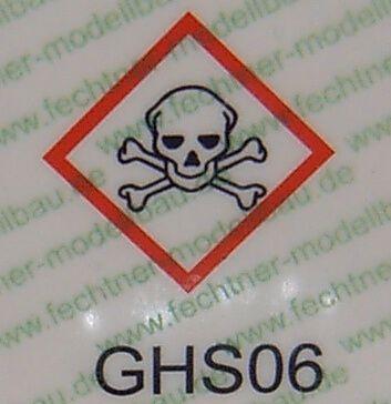 gedruckte Gefahrgutzettel (WDC-Maßstab) GHS06 laut