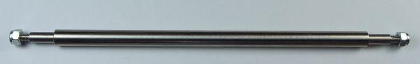 1x Auflieger-/Anhängerachse, Edelstahl. 160mm Länge, 6mm