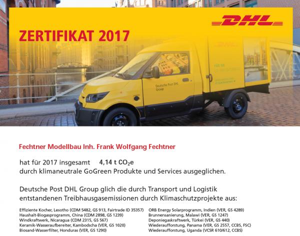 DHL-Zertifikat