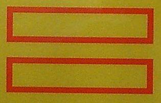 ECE70-B-Aufkleber Heckmarkierungs-Satz aus gelb