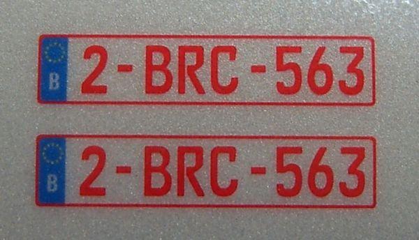 Set of license-plates for BELGIUM. 2 plates,
