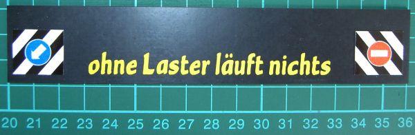 1 Schmutzfänger Nr.0 ca. 160x30x1mm mit geplottetem Text
