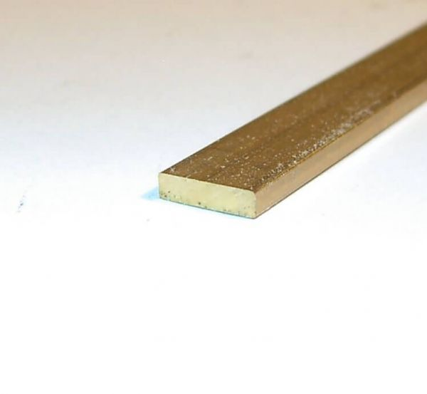 Flachmessing 5,0 x2,0 mm, 1m lang Flachprofil, Bohr- und