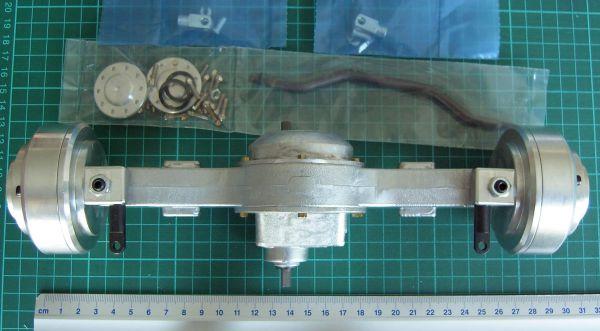 Lenkachse mit Planetengetriebe M1:8 komplett kugelgelagert