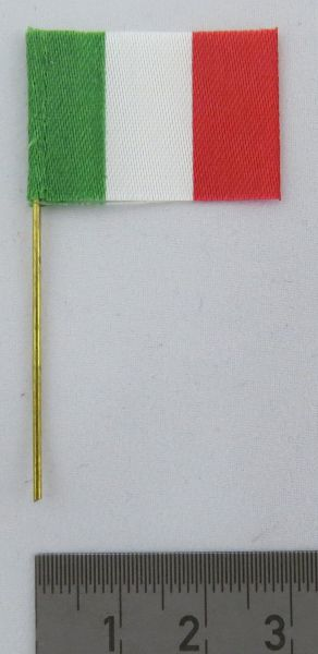1x Country Flag ITALY, made of fabric, with flag stick (art