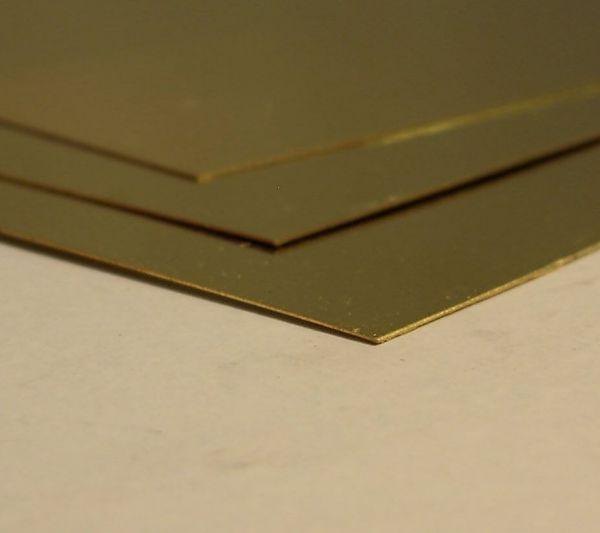 1x Messingblech halbhart 0,5mm 400x200mm MS63