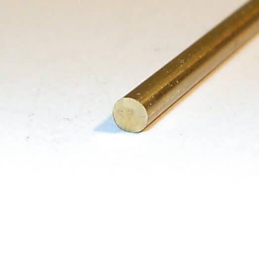 Okrągły mosiądzu 4,0mm, 1m długo Jakość MS obróbcze