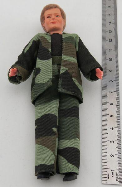 1 Esnek Doll MAN yaklaşık 14cm uzun saç modeli