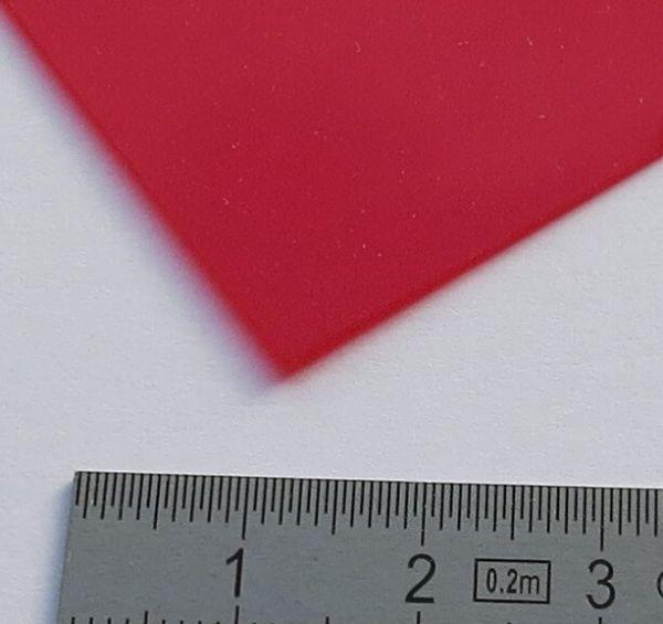 Płyta 1 PVC przezroczysta czerwonym kolorze 0,23mm grube ca.328 x