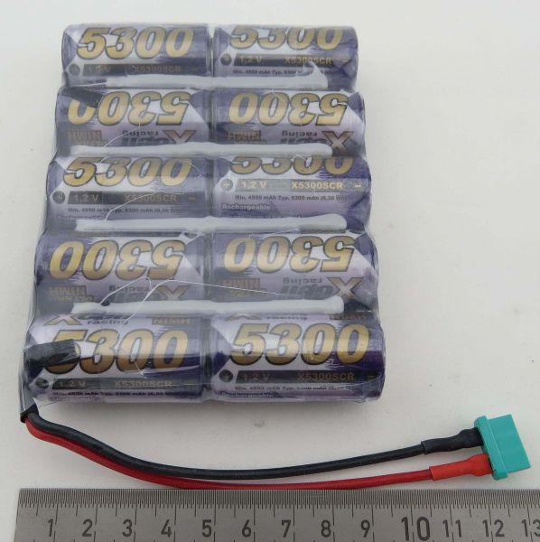 Akku-Pack mit 10x SUB-C-Zellen, NiMH, 12V 5300mAh