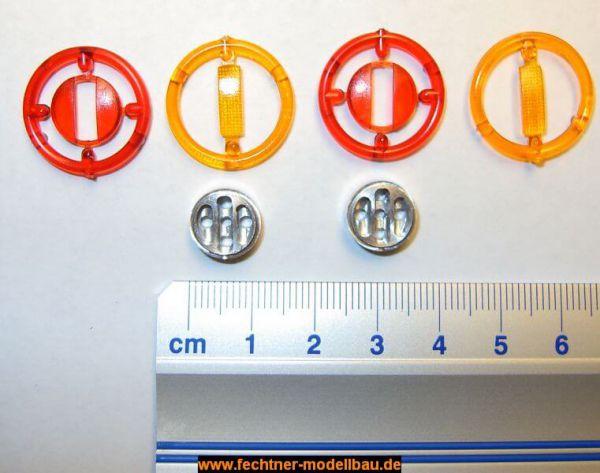 3-Kammer Rückleuchteneinheit (1 Paar) rund mit | Heckleuchten ...