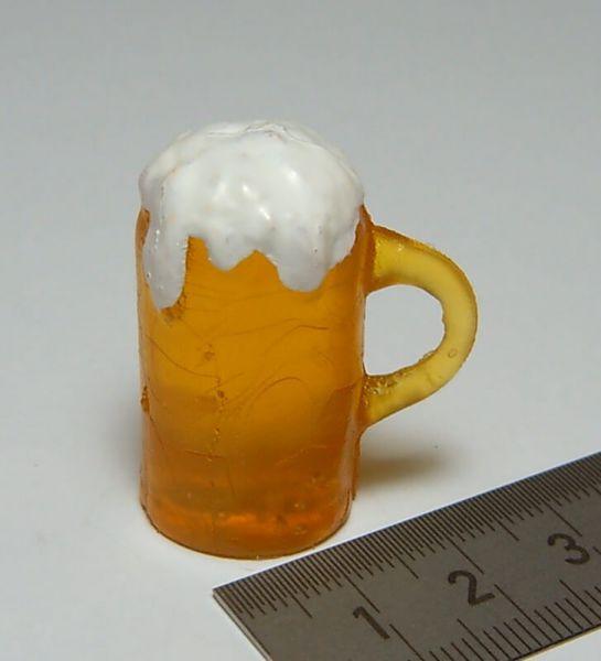 1 Bierglas 1,8cm x 3,5cm hoch, klar. Bierglas mit