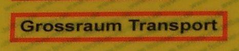 "Sticker REFLEX warning ""metropolitan area."" from"