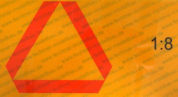 ECE69 naklejki z tyłu oznakowania. 1 / 8 z ruchu żółty