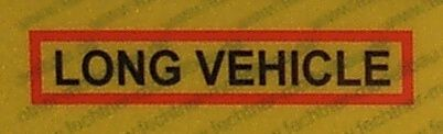 """Naklejka ostrzegawcza REFLEX """"LONG vehic"""" od"""