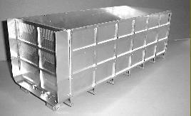 1x Hoher Container Bausatz, Alu. Bausatz (unlackiert) für