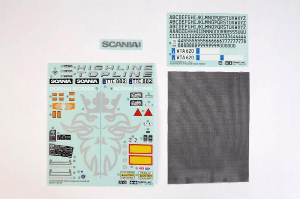 1 Dekorbogen für Scania R620 (3-Achs) von Tamiya